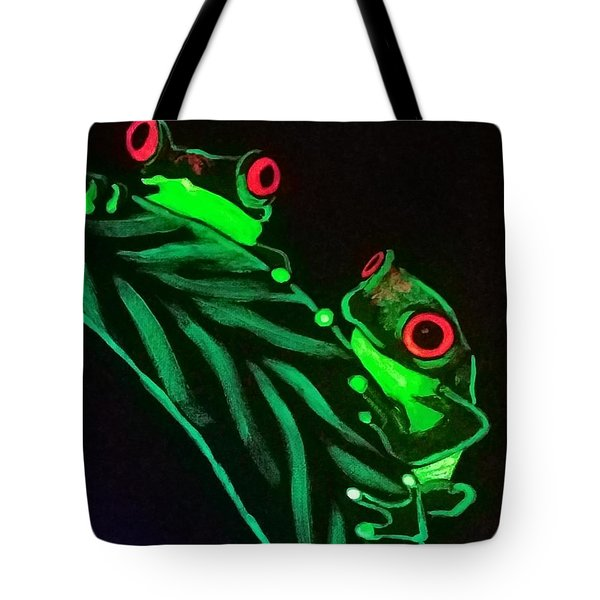 Tree Frogs  Tote Bag