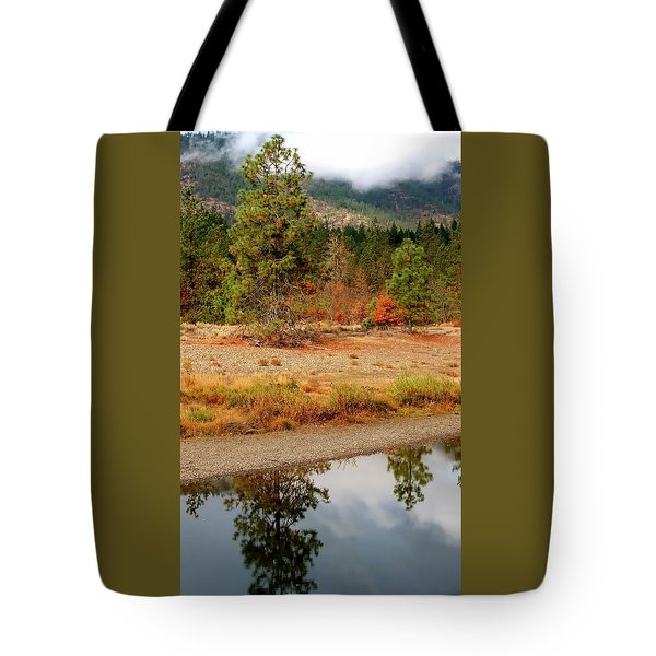 Tote Bag featuring the photograph Tree In Illinois River by Jerry Sodorff