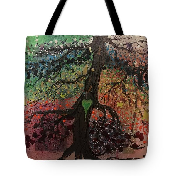 Tree Of Life Chakra Tree Tote Bag