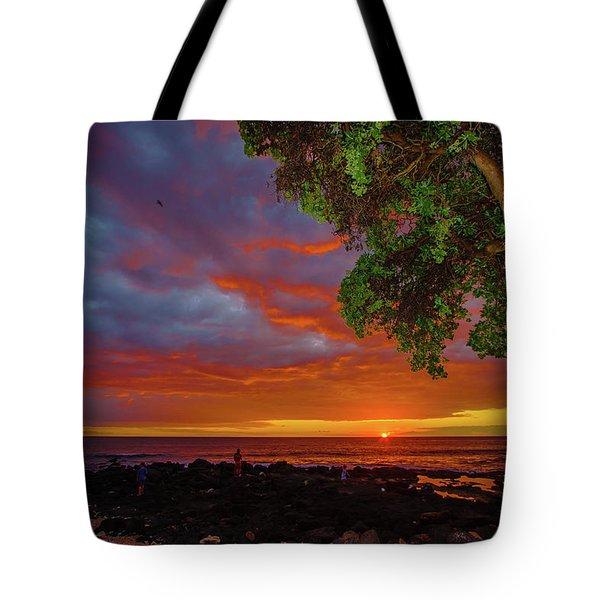 Tree  Sea And Sun Tote Bag