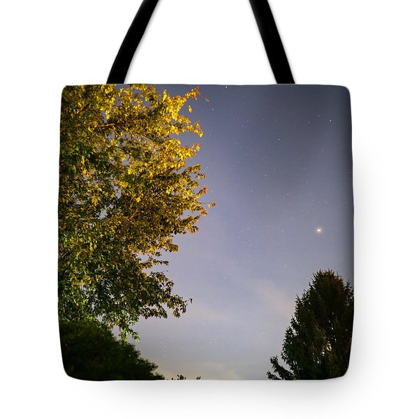 Trees And Stars Tote Bag