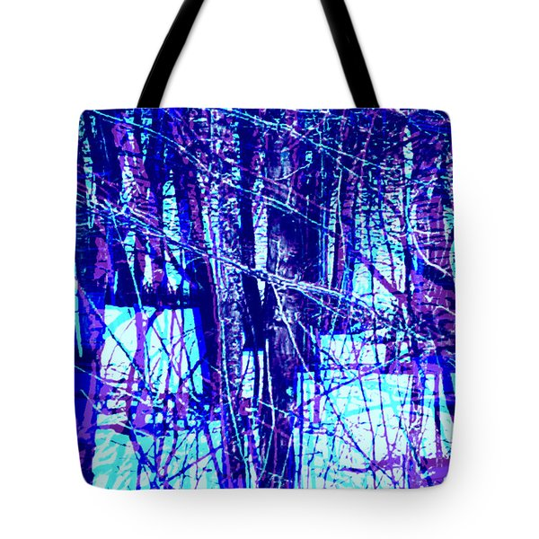 Trees In Abstract Tote Bag