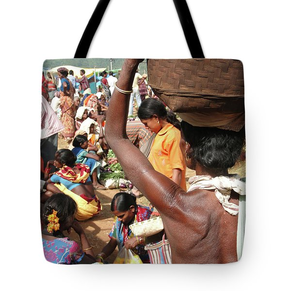 Tribal Women Carry Goods  On Their Heads Tote Bag