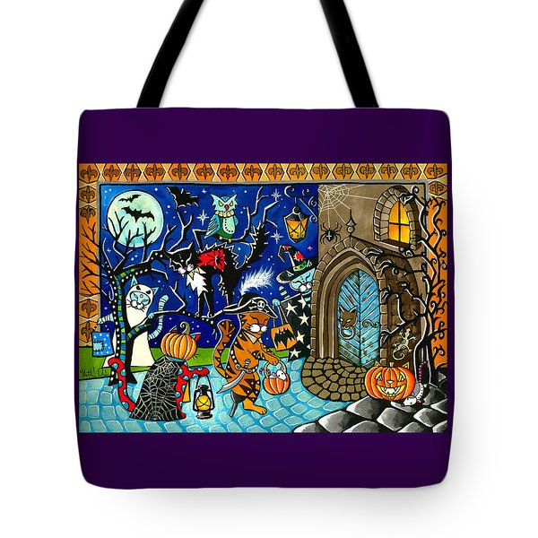 Trick Or Treat Halloween Cats Tote Bag