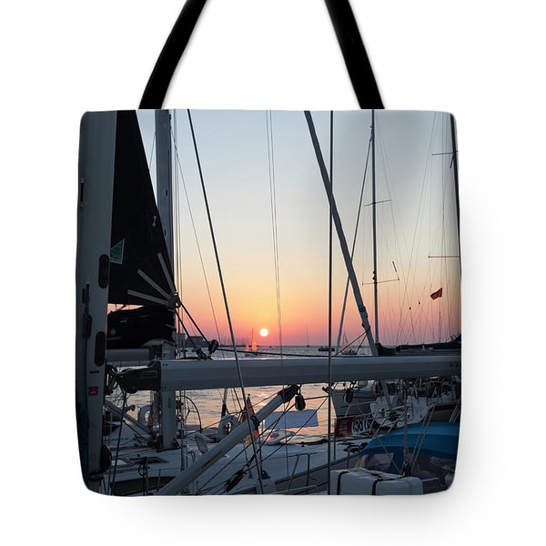 Tote Bag featuring the photograph Trieste Sunset by Helga Novelli