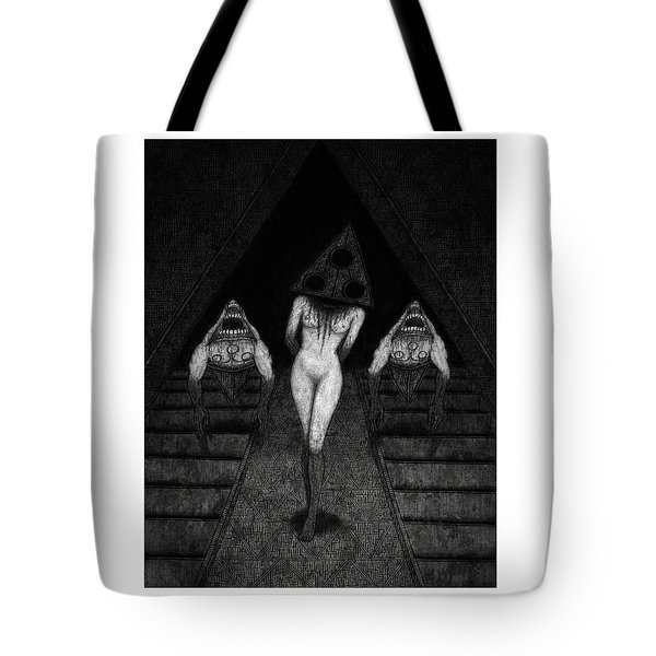 Tote Bag featuring the drawing Trigia And The Dethiligox - Artwork by Ryan Nieves