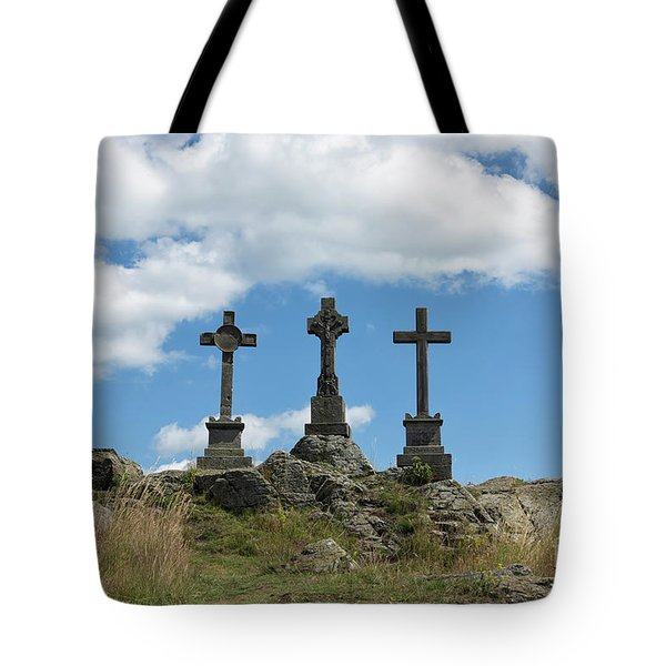 Trinity Crosses On The Hill Tote Bag