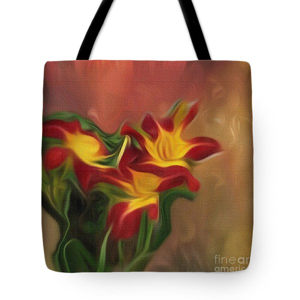 Trio Of Day Lilies Tote Bag
