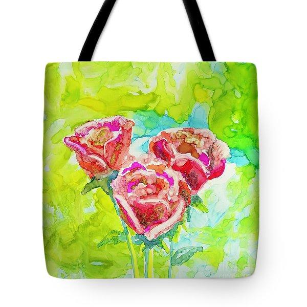 Trio Of Roses Tote Bag