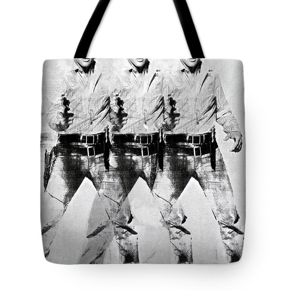 Triple Elvis, Andy Warhol Tote Bag