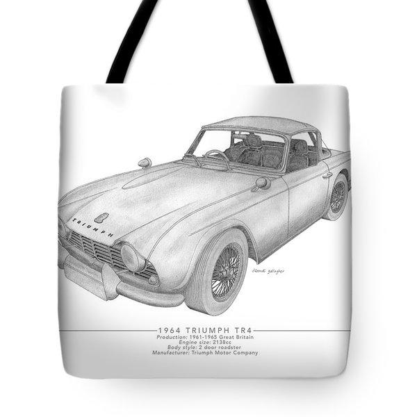 Triumph Tr4 Roadster Tote Bag
