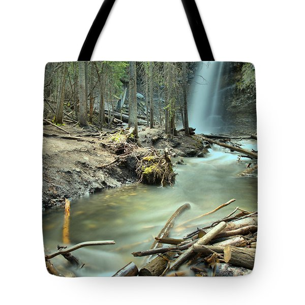 Troll Falls In The Forest Tote Bag