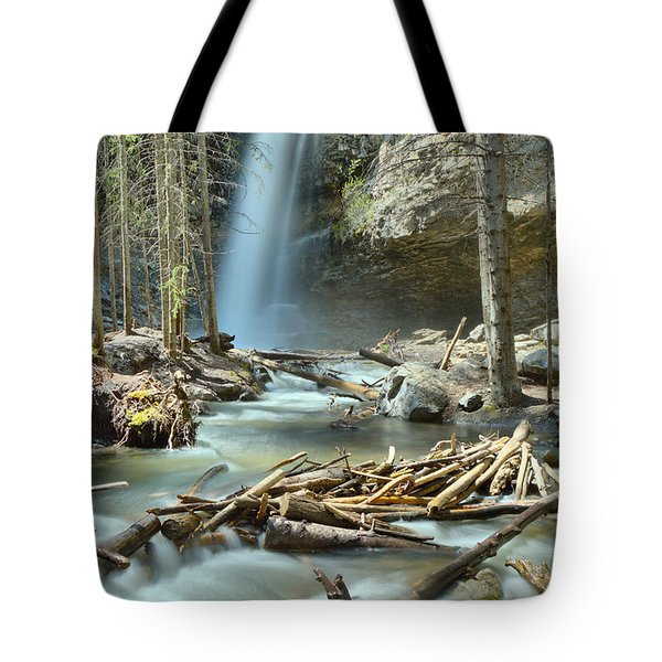 Troll Falls In The Woods Tote Bag