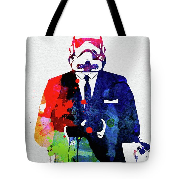 Trooper Boss Watercolor Tote Bag