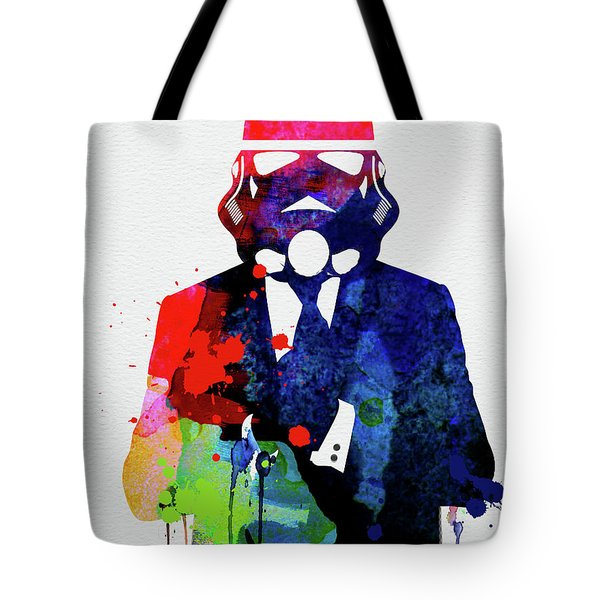 Trooper In Suite Watercolor Tote Bag