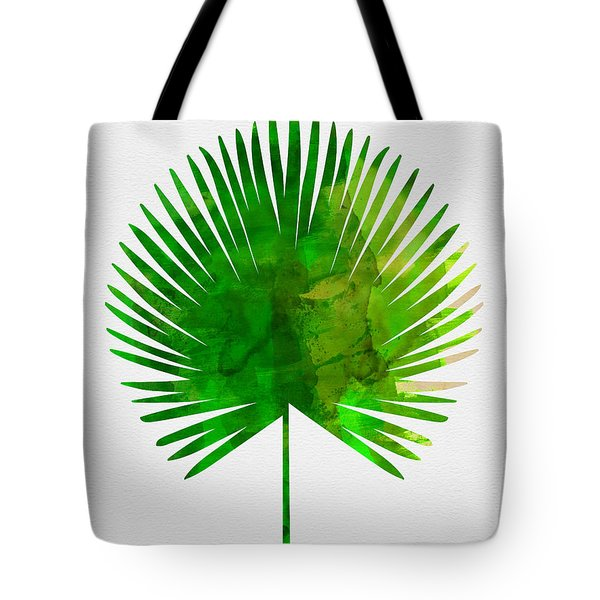 Tropical Chamaerops Leaf Tote Bag