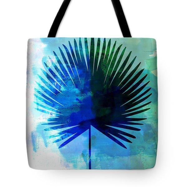 Tropical Chamaerops Leaf Watercolor Tote Bag