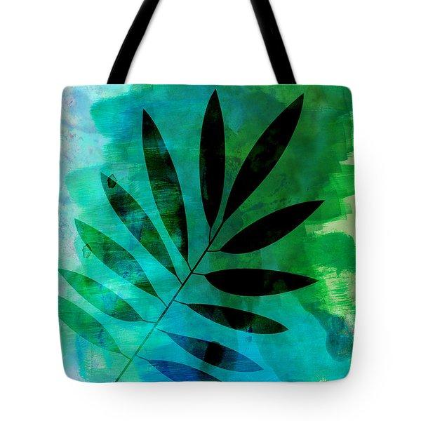 Tropical Leaf Watercolor  Tote Bag