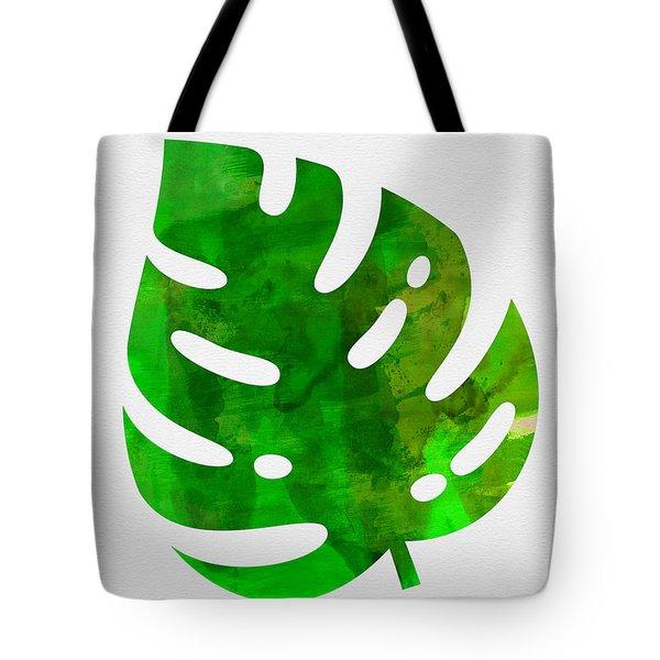Tropical Monstera Leaf I Tote Bag