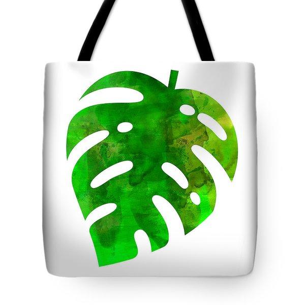Tropical Monstera Leaf Tote Bag