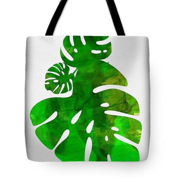 Tropical Monstera Leafs Tote Bag