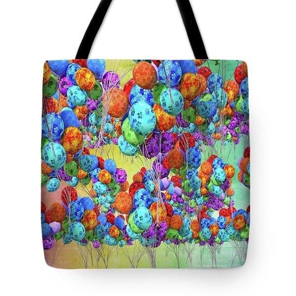 Tropical Print Balloons Tote Bag