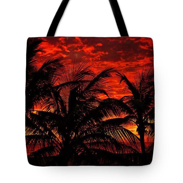 Tropical Sunrise Tote Bag