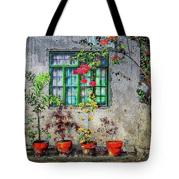 Tote Bag featuring the photograph Tropical Wall by Michael Arend