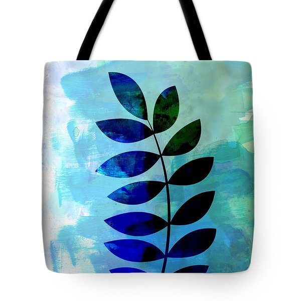 Tropical Zamioculcas Leaf Watercolor Tote Bag