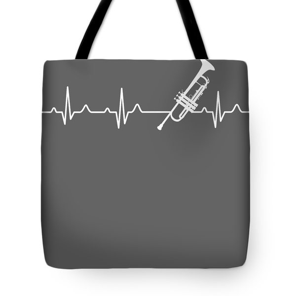 Trumpet Heartbeat For Your Hobbie Tees Tote Bag