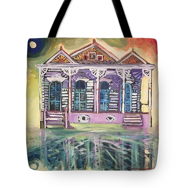 Tryptic On The Bayou New Orleans Tote Bag