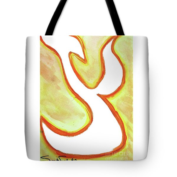 Tote Bag featuring the painting Tsunny Tsade Ts1 by Hebrewletters Sl
