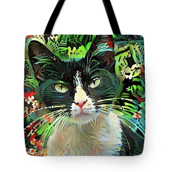 Tucker The Tuxedo Cat Tote Bag