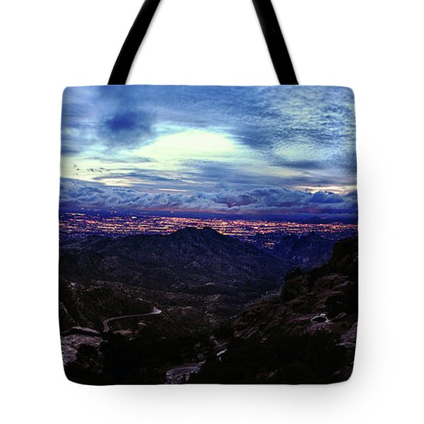 Tucson Twilight Panorama Tote Bag