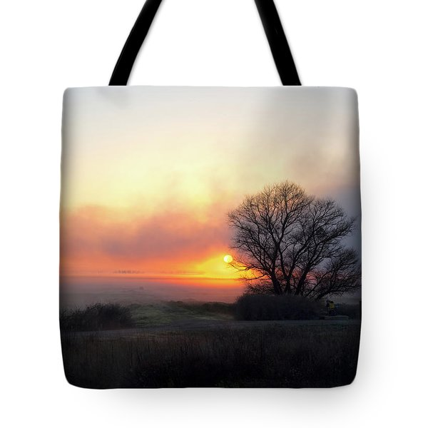 Tule Fog Sunrise  Tote Bag