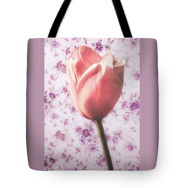 Tote Bag featuring the photograph Tulip Contrasted by Michael Arend