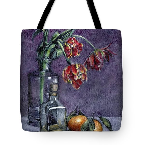 Tulips And Oranges Tote Bag