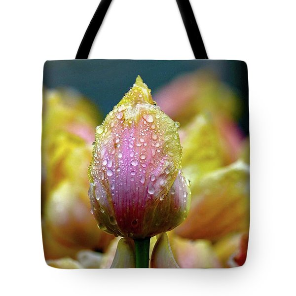 Tulips In The Rain Tote Bag