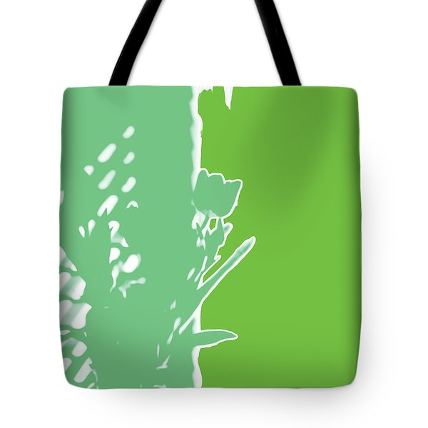 Tulips Six Spring Green Tote Bag