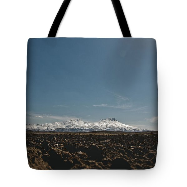Turkish Landscapes With Snowy Mountains In The Background Tote Bag