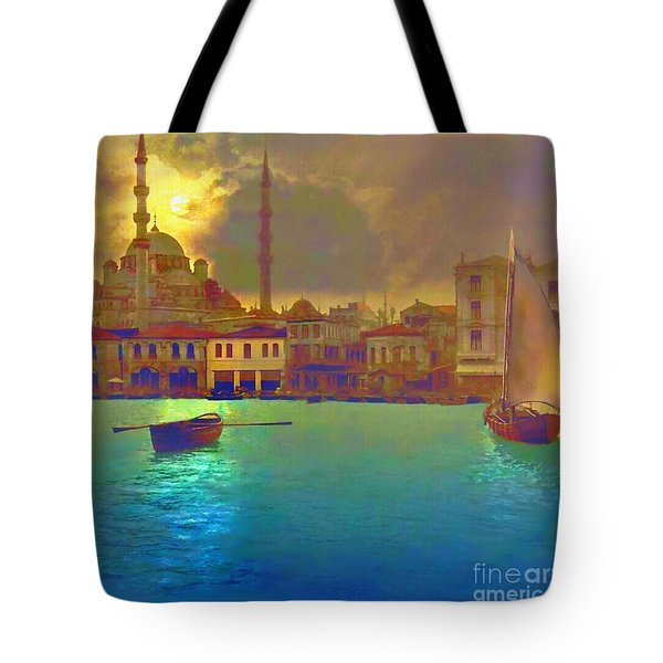 Turkish  Moonlight Tote Bag