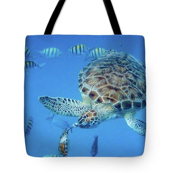 Turning Turtle Tote Bag