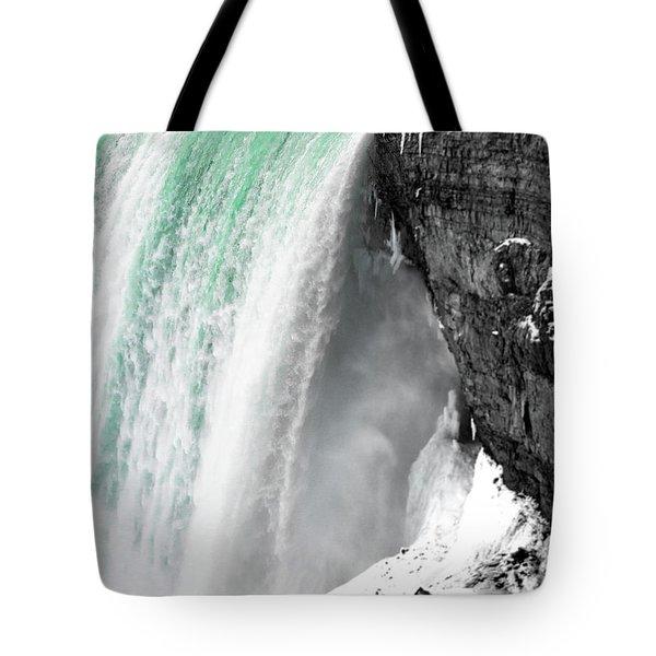 Turquoise Falls Tote Bag