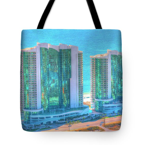 Tote Bag featuring the photograph Turquoise Place by Gulf Coast Aerials -