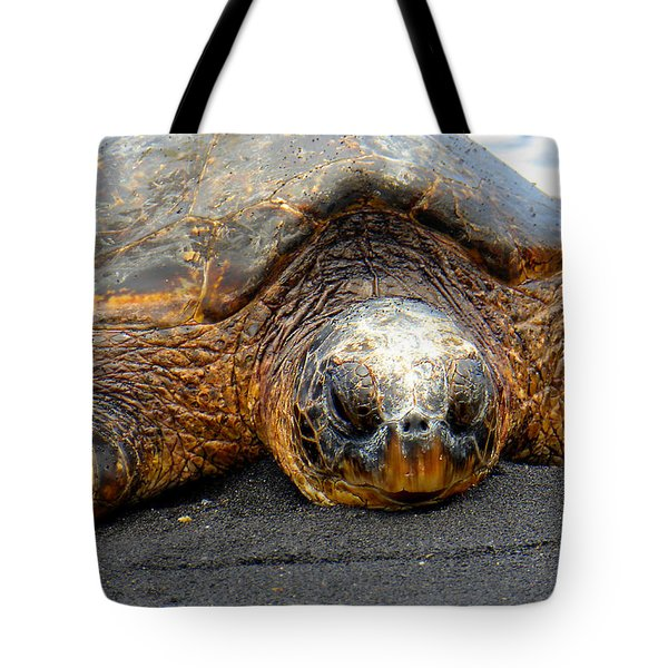 Turtle Rest Stop Tote Bag