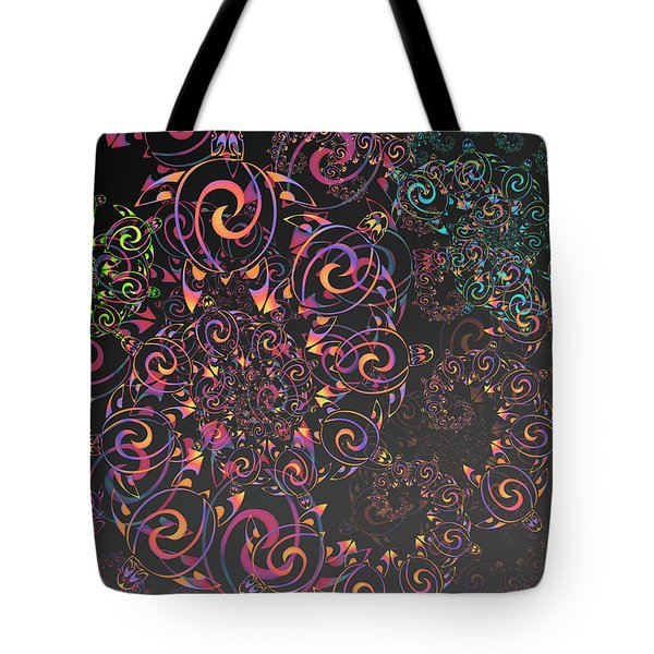 Tote Bag featuring the digital art Turtle by Vitaly Mishurovsky