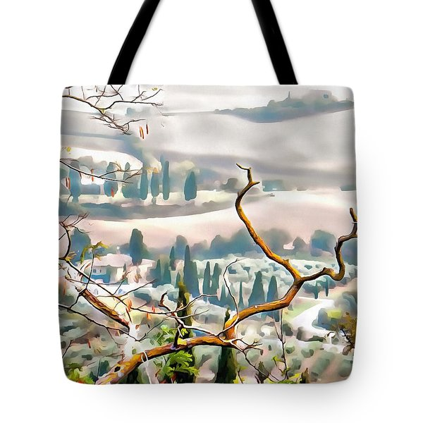 Tote Bag featuring the photograph Tuscan Autumn Landscape by Dorothy Berry-Lound