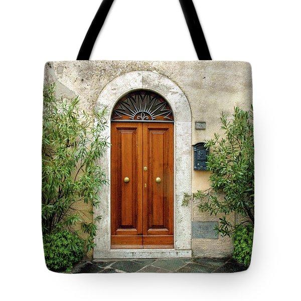 Tuscan Door Tote Bag