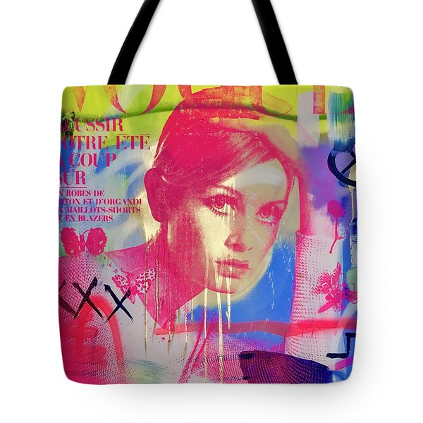 Twiggy In Pink  Tote Bag