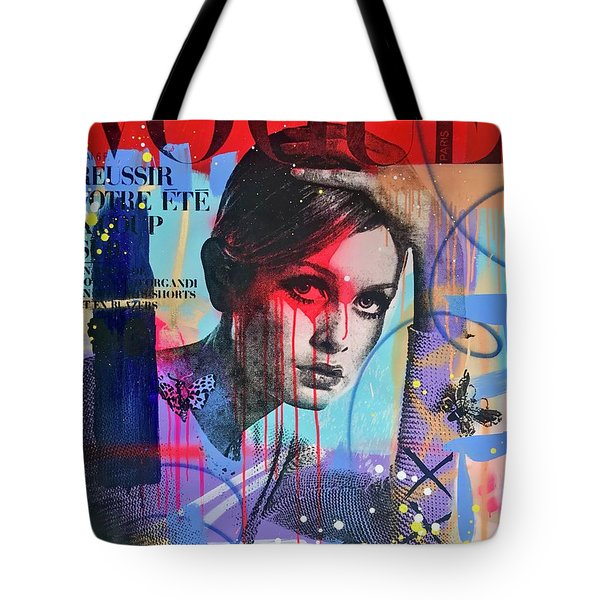 Twiggy With The Look In Her Eye  Tote Bag